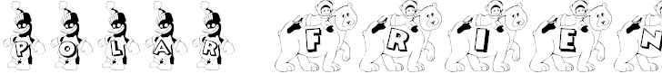 Free Font KG POLAR FRIENDS