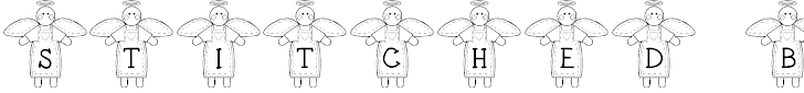 Free Font LCR Stitched by an Angel