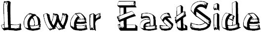 Free Font Lower EastSide