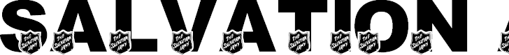 Free Font LMS Salvation Army