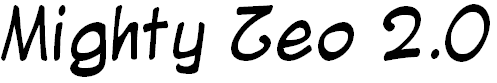 Font Font Mighty Zeo 2.0