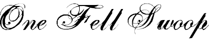 Free Font One Fell Swoop