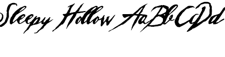 Free Font Sleepy Hollow