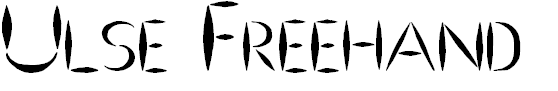 Free Font Ulse Freehand