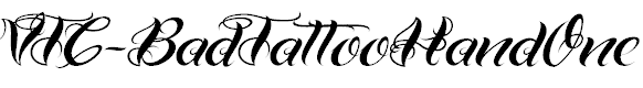 Free Font VTC-Bad Tattoo Hand One