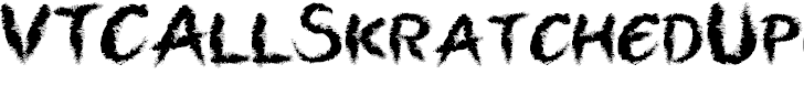 Free Font VTCAllSkratchedUpOne