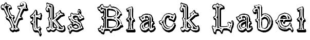 Font font vtks black label