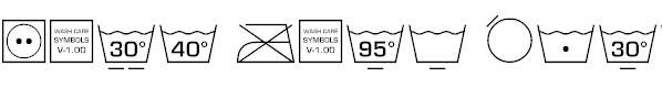 Free Font Wash Care Symbols M54