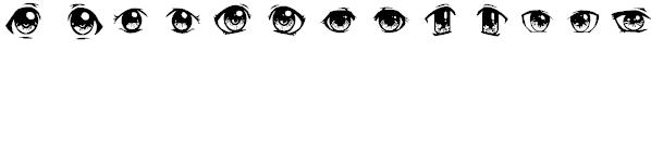 Anime Eyes Font - AngeliQ | Download Free Fonts | Free Graffiti