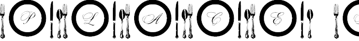 Free Font AL Place Settings