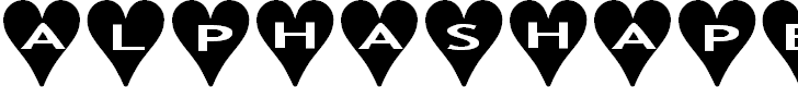 Free Font AlphaShapes hearts