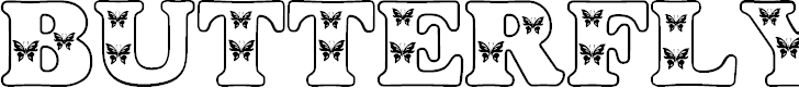 Free Font Butterfly Letters