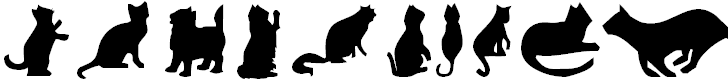 Free Font Cat Silhouettes