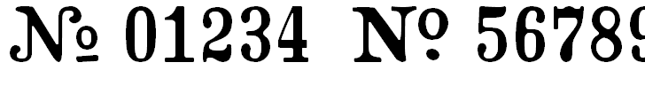 Free Font Crash Numbering