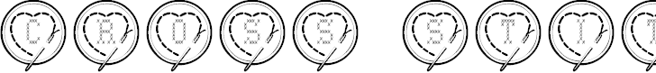 Free Font Cross Stitch Hearts