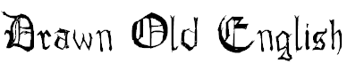 Free Font Drawn Old English