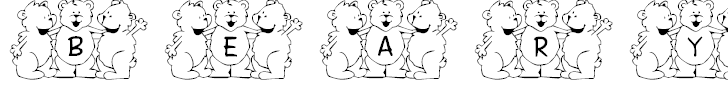 Free Font FL Beary Good Friends
