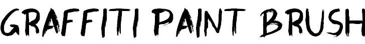 Free Font Graffiti Paint Brush