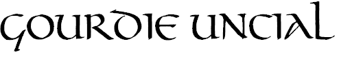 Free Font Gourdie Uncial