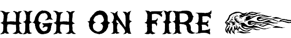 Free Font HIGH ON FIRE