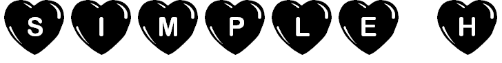 Free Font JLR Simple Hearts