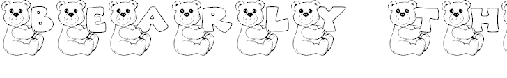 Free Font JLR Bearly There