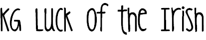 Free Font KG Luck of the Irish