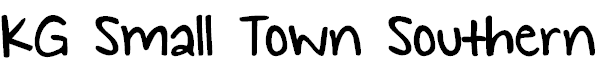 Free Font KG Small Town Southern Girl