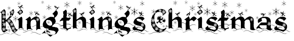 Free Font Kingthings Christmas