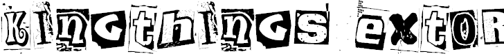 Free Font Kingthings Extortion