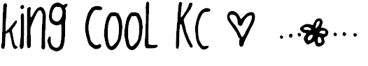 Font Font king cooL KC