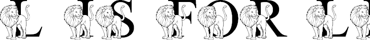 Free Font LMS L Is For Lion