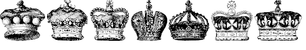 Free Font Crowns and Coronets