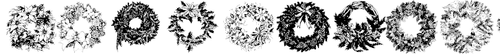 Free Font Christmas Wreaths