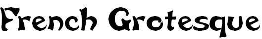 Free Font French Grotesque